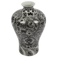Black & White Lennox Ming Style Porcelain Vase