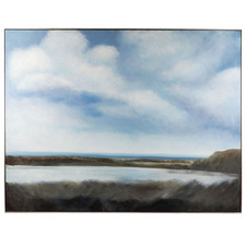 By The Lake Framed Canvas Wall Art