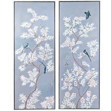 2 Piece Ming Palais Framed Canvas Wall Art Set