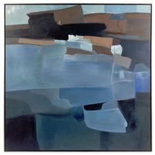 True Blue Framed Canvas Wall Art