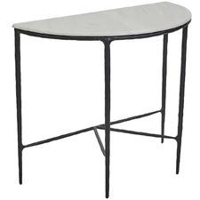 Black Heston Demilune Console Table