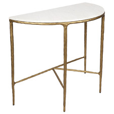 Heston Curved Marble Console Table