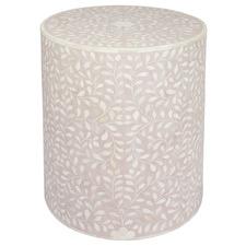 Mia Round Bone inlay Side Table