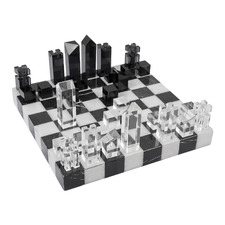 Hillcrest Crystal & Marble Chess Set