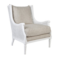 White Nergui Accent Chair