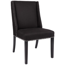 Black Vaughn Upholstered Dining Chair