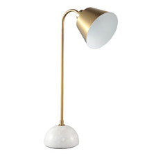Brass & White Astryd Metal Table Lamp