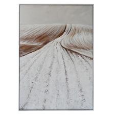 Natural Horizon Hand-Painted Framed Canvas Wall Art