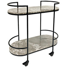 Stryde Marble & Stainless Steel Drinks Trolley