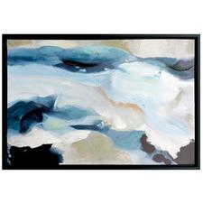 Blue Thinker Framed Canvas Wall Art