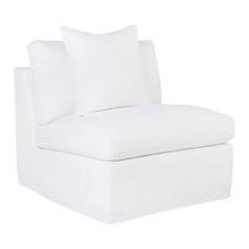 Cayman Linen-Blend Slipcover Occasional Chair