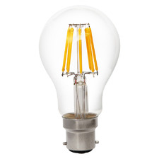 8W Clear Glass 2700K Non-Dimmable LED Bulb