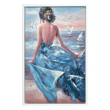 Lady of Spain Framed Canvas Wall Art