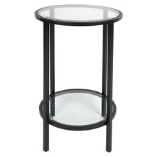 Martin Iron & Glass Side Table