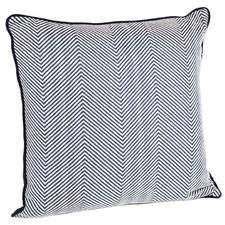 Evelyn Chevron Square Cotton-Blend Cushion