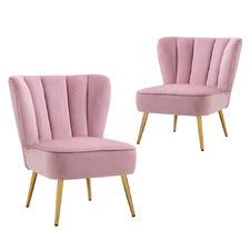 Burnett Velvet Accent Chairs (Set of 2)