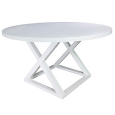 White Finnian 140cm Round Dining Table