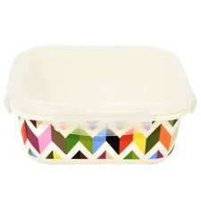 Square Ziggy Porcelain Food Container