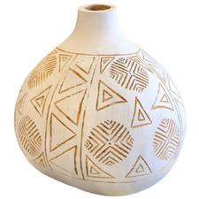 White Carved Shaped Gourd Vase