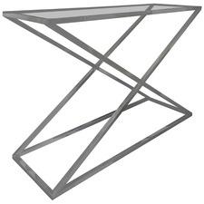 Fenda Glass Console Table