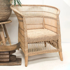Authentic Malawi Reed Armchair