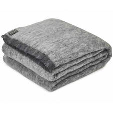 Granite Alpaca Throw Blanket