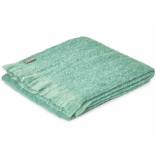 Teal Mohair Throw