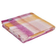 Checkered Iris Mohair Throw