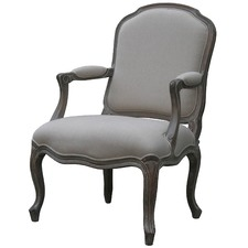 Louis XV Upholstered Chair in Wash White
