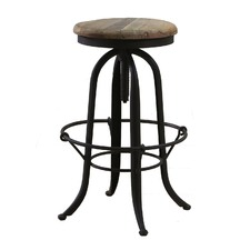 Rico Tanned Leather Adjustable Barstool