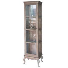 White Wash Display Cabinet