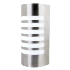 Lancet Curved Exterior Wall Light with Grill