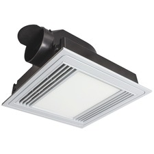 Tercel Square Bathroom Exhaust Fan with Light