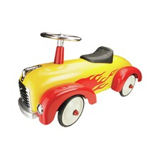 Yellow Metal Speedster Ride-On Car