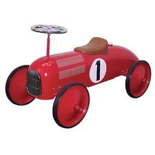 Red Metal Speedster Ride-On Car