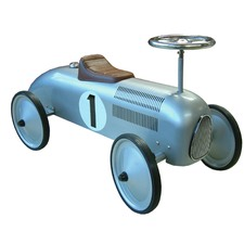 Silver Metal Speedster Ride-On Car