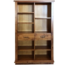 Traford Staggered Pine Wood Bookcase