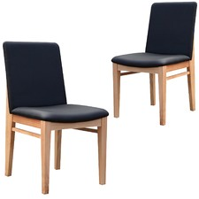 Pacific Messmate & Faux Leather Dining Chairs (Set of 2)