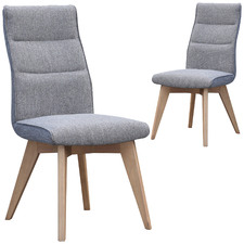 Grey Marco Linen Dining Chairs (Set of 2)