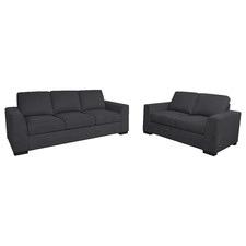 2 Piece Salamis Linen Sofa Set