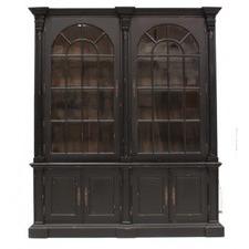 Mahogany Double Door Georgian Display Cabinet