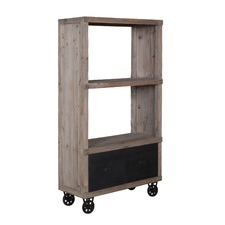 Industrial Bookshelf With Drawers