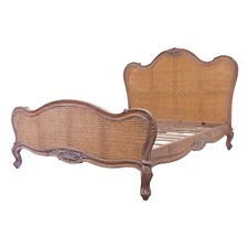 Parisian Rattan & Wood Bed