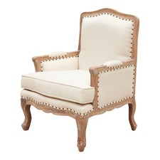 Italian Distressed Wood Armchair
