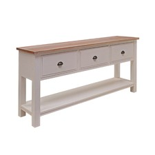 3 Drawer Wooden Console