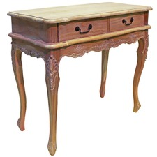 French Provincial Adele 2 Drawer Console Table