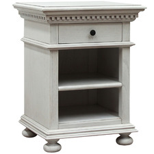 Antique White Augusta Mindi Wood Bedside Table