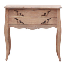 French Provincial Chateaux 2 Drawer Bedside Table