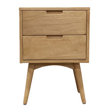 Kiruna 2 Drawer Mango Wood Nightstand