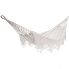 Natural Fringed Brazilian Double Cotton Hammock